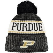 Purdue Boilermakers New Era Youth Sport Knit Hat with Pom - Black - OSFA