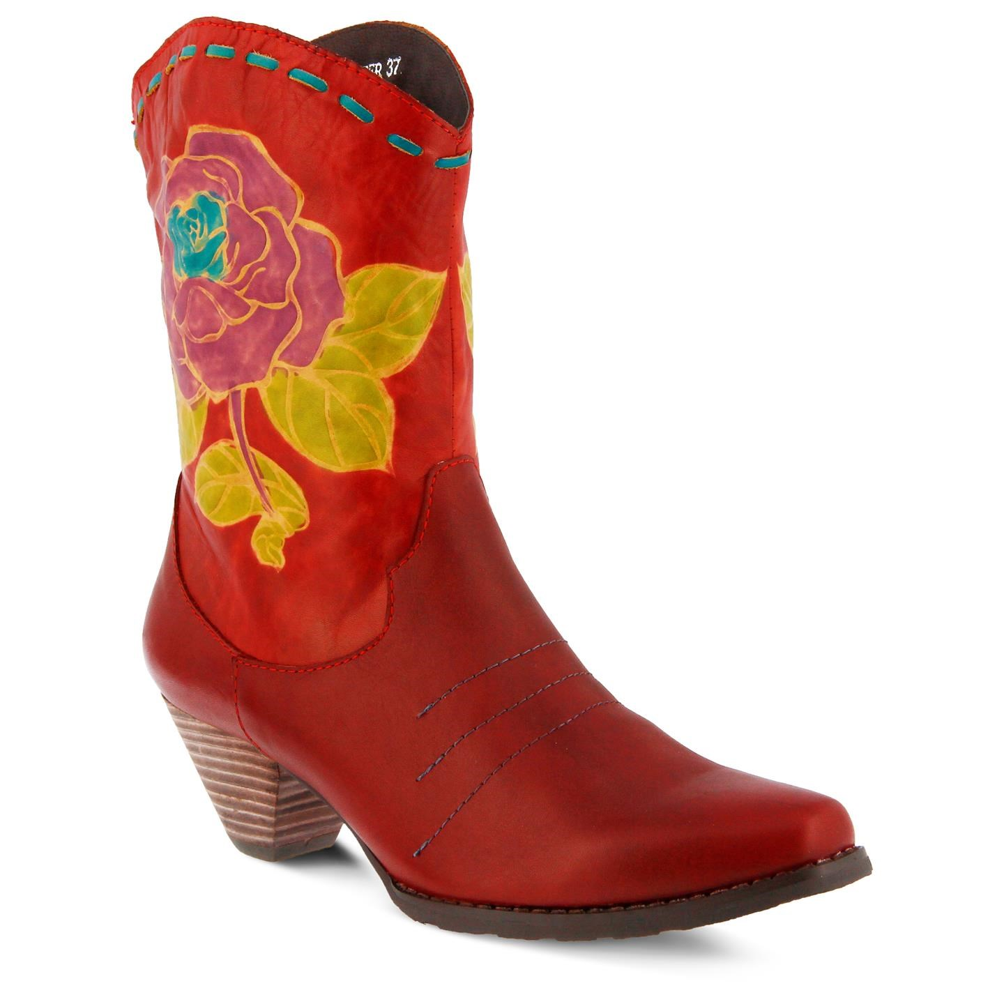 L'Artiste Aster By Spring Step Red Leather Boots 39 EU / 8.5 US Women