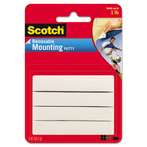 Scotch Mounting Putty, Removable 2 oz.