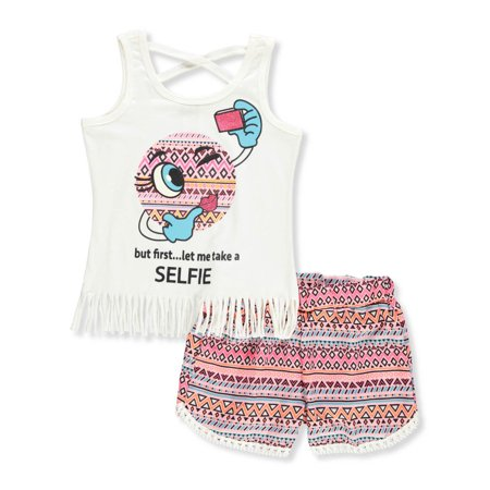 RMLA Girls' 2-Piece Short Set - Ms Clause Outfit