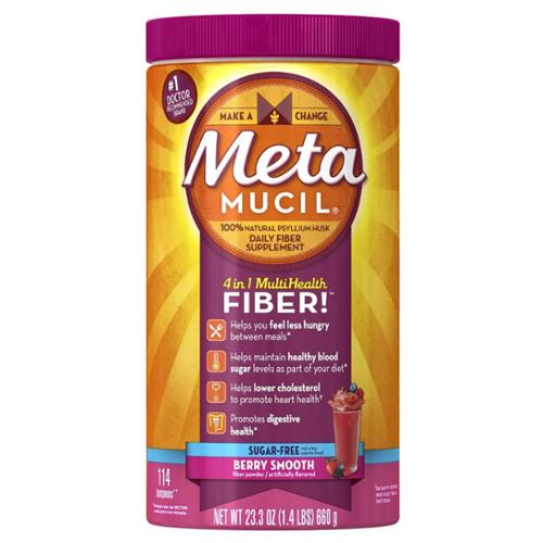 Metamucil Smooth Texture Berry Burst Sugar-Free 114 Each