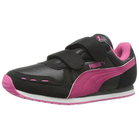 Puma Black Dark Shadow - PUMA Cabana Racer Mesh V Kids Sneaker (Infant/Toddler/Little Kid) , Black/Dark Shadow/Beetroot Purple, 5 M US Toddler