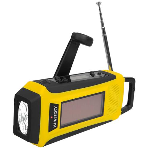 Solar & Hand Crank Radio AM/FM/NOAA, Flashlight, Emergency Phone Charger W Cable