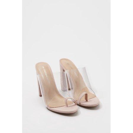 31a344ebd55 Urban Planet Women's Perspex Toe Ring Heel Mule | Walmart Canada