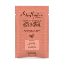 SheaMoisture Hair Masque for dry curls Coconut & Hibiscus hair mask with Shea Butter 2 oz