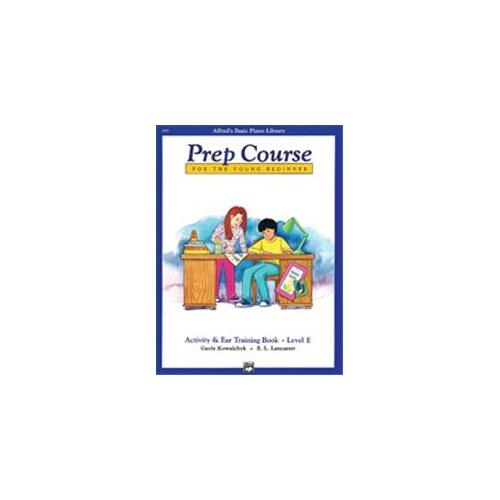 Alfred 00-6293 Basic Piano Prep Course- Activity & Ear Training Book E - Music Book