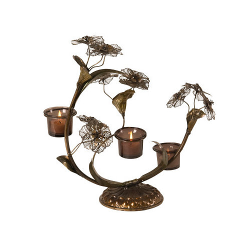 Wilco Home Flowers Metal Candelabra