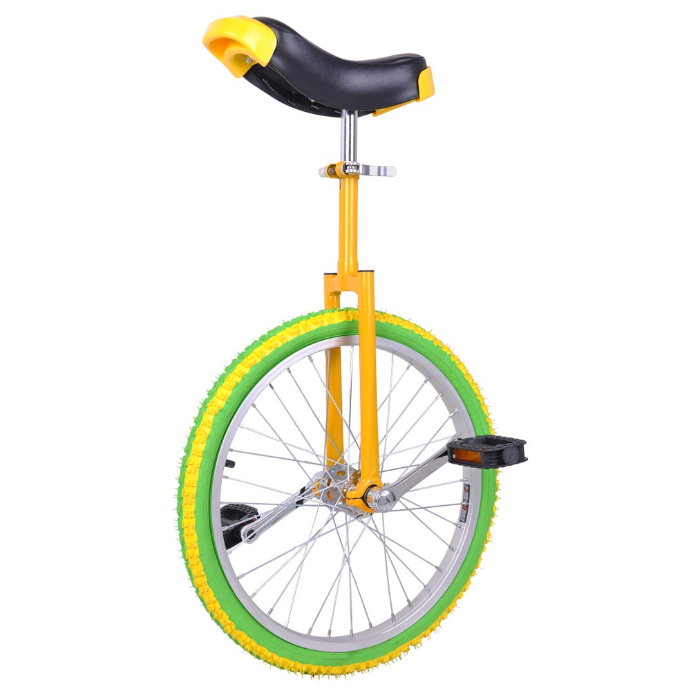 """Yescom 20"""" Inch Wheel Unicycle Leakproof Butyl Tire Wheel Cycling Outdoor Sports Fitness Exercise Yellow Green"""