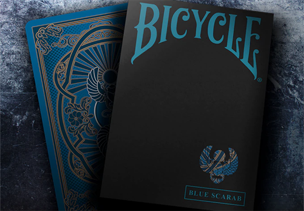 Bicycle Scarab (Blue) Playing Cards by Crooked Kings by