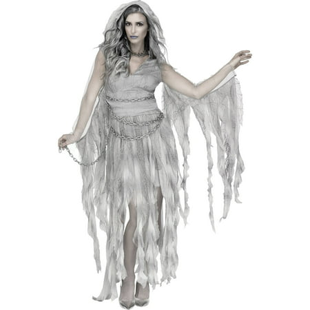 Enchanted Ghost Women's Adult Halloween Costume](Victorian Ghost Maid Halloween Costume)