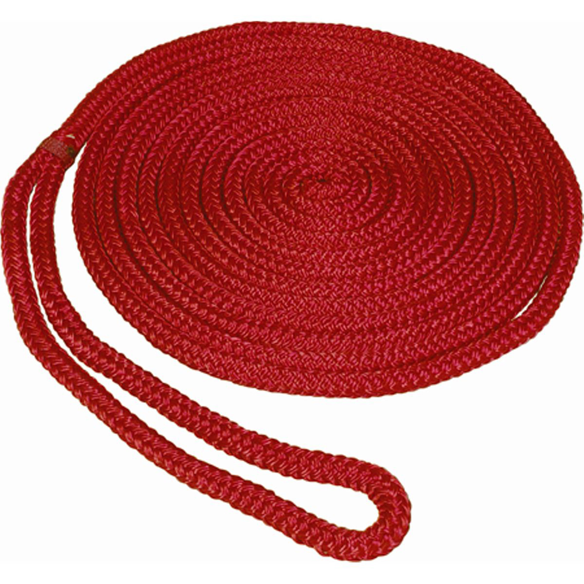 "Click here to buy SeaSense Pre-Spliced Double Braid MFP Dock Line, 1 2"" x 25', 12"" Eye, Red by Generic."