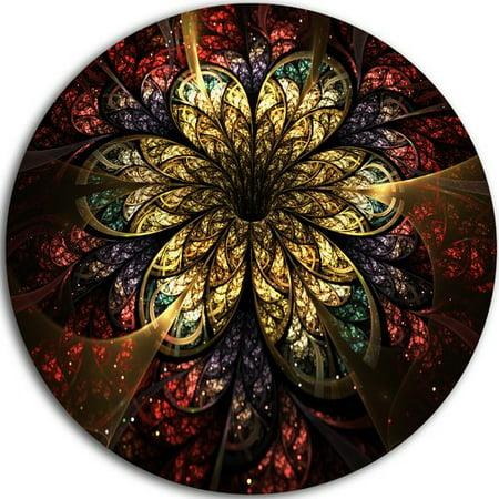 Design Art 'Fractal Flower Yellow Red Digital Art' Graphic Art Print on -