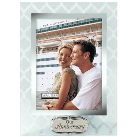 5x7 Our Anniversary Glass Picture Frame