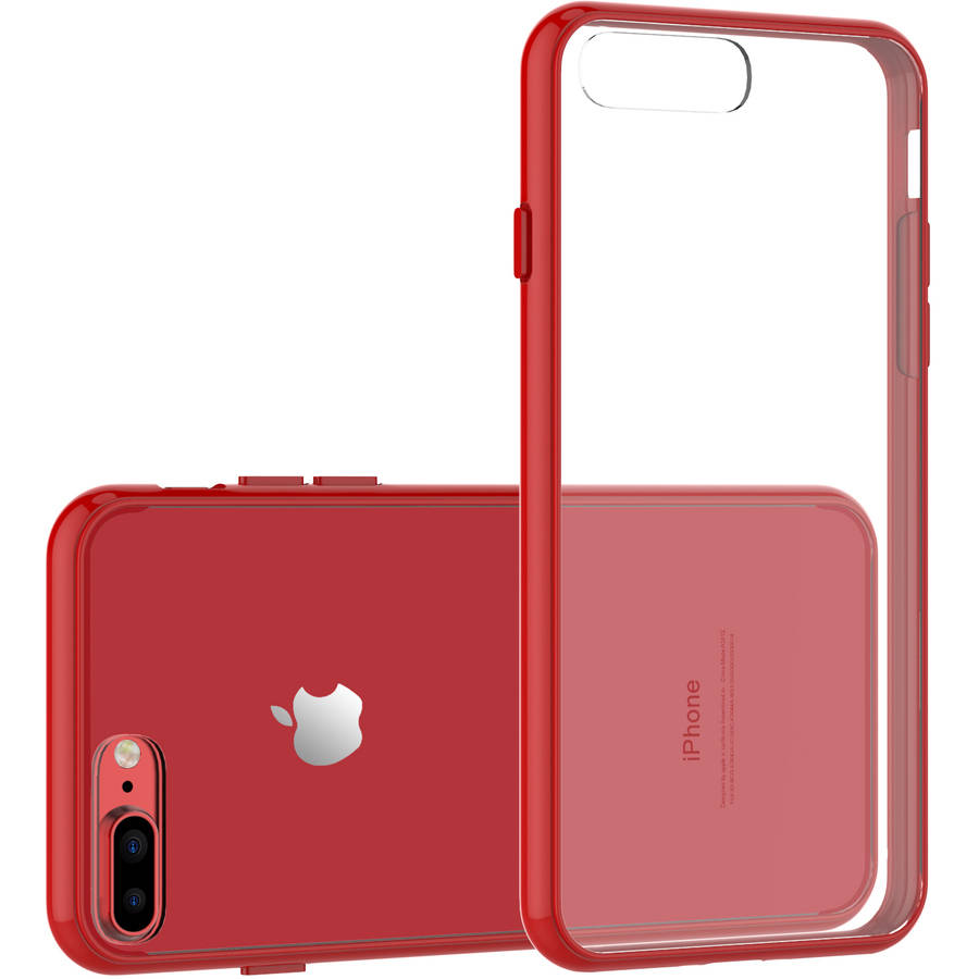 "SuprJETech Apple iPhone 8 Plus / 7 Plus 5.5"" Case with Shock-Absorption Bumper and Anti-Scratch Clear Back For iPhone 8 Plus and iPhone 7 Plus"