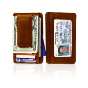 Cowhide Leather Money Clip With Magnet
