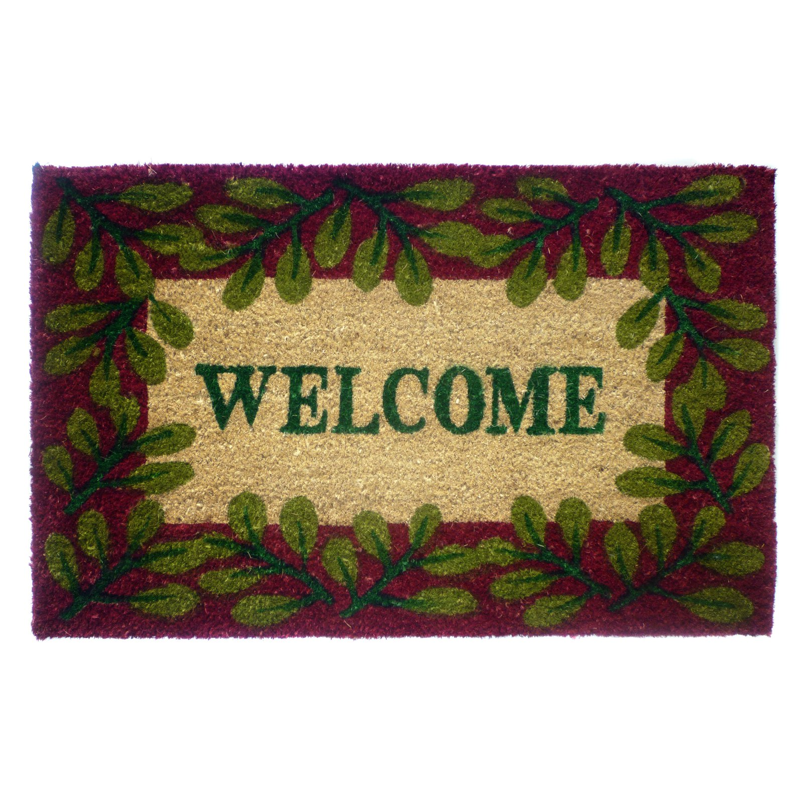 Geo Crafts Welcome Door Mat - 2 Leaves