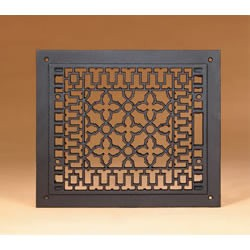 """12"""" X 14"""" Cast-Iron Grille, Black, Fits 10"""" X 12"""" Opening"""
