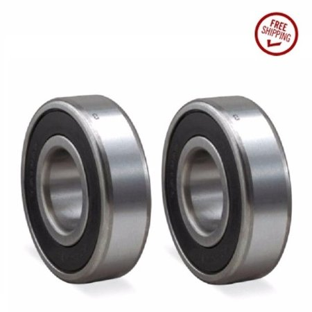 - (2) Precision Sealed Ball Bearings 40mm ODx17mm IDx12mm Thick w/ 2 Rubber Seals