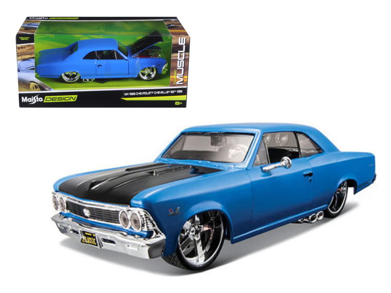 "1966 Chevrolet Chevelle SS 396 Blue Classic Muscle"" 1 24 Diecast Model Car by... by Diecast Dropshipper"