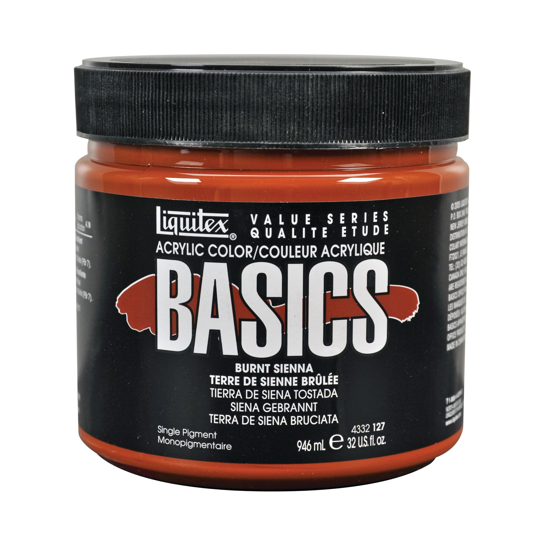 Liquitex BASICS Acrylic Color, 32 oz. Jar, Burnt Sienna