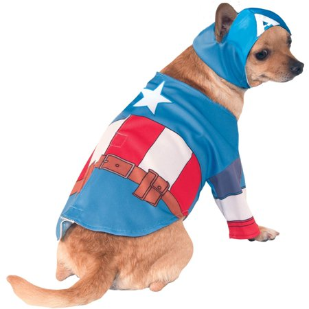 Captain America Pet Costume (Captain America Pet Costume)