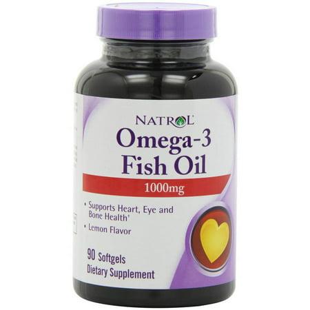 Natrol oméga-3 d'huile de poisson purifiée, 90 CT