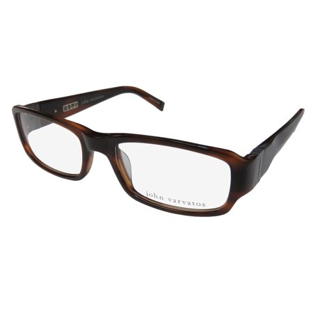 New John Varvatos V341 Mens Designer Full-Rim Brown High Quality Made In Japan Frame Demo Lenses 53-18-140 Spring Hinges Eyeglasses/Eye (Eyeglasses Made In Japan)