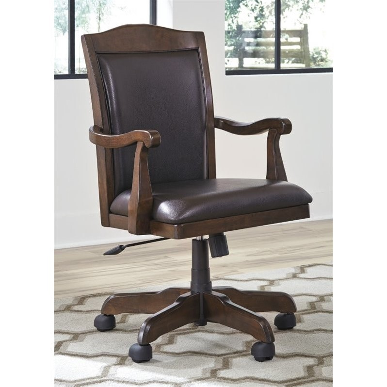 Ashley Porter Brown Home Office Swivel Desk Chair H697-01A