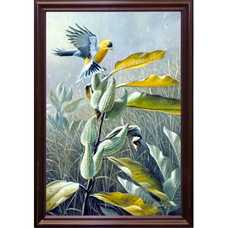 "Meadow Gold -WILGOE1148 Framed Print 32.75""x23.25"" by Wilhelm Goebel in a Cherry Grande"