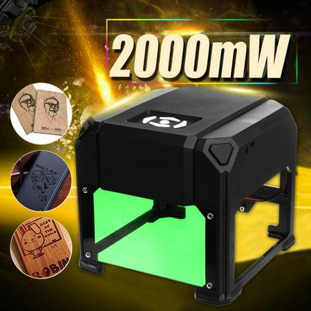 2000mW Desktop Laser Engraving Machine Logo Marking Engraver Cutter Printer ()