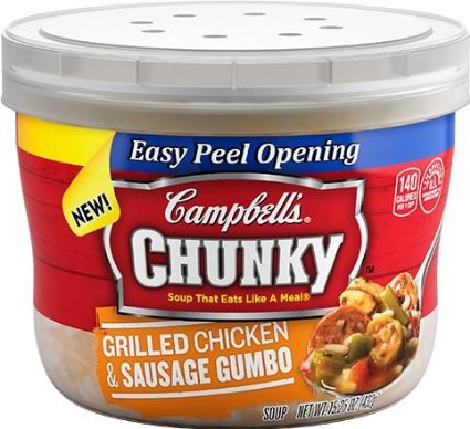 8 PACKS : Campbell's, Chunky, Microwave Soup Bowls, 15.25oz Bowl by