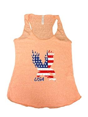 3ca5f478e82 Product Image Women s USA Flag Tri-Blend Tank Top American Bald Eagle. SHORE  TRENDZ