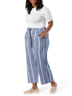 Signature by Levi Strauss & Co. Womens Plus Wide Leg Pull On Crop