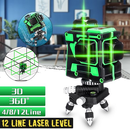 12 Lines 3D Green Laser Level Self-Leveling 360 Degre Horizontal And Vertical Cross Lines Green Laser Line With Tripod (Best Green Laser For Ar 15)