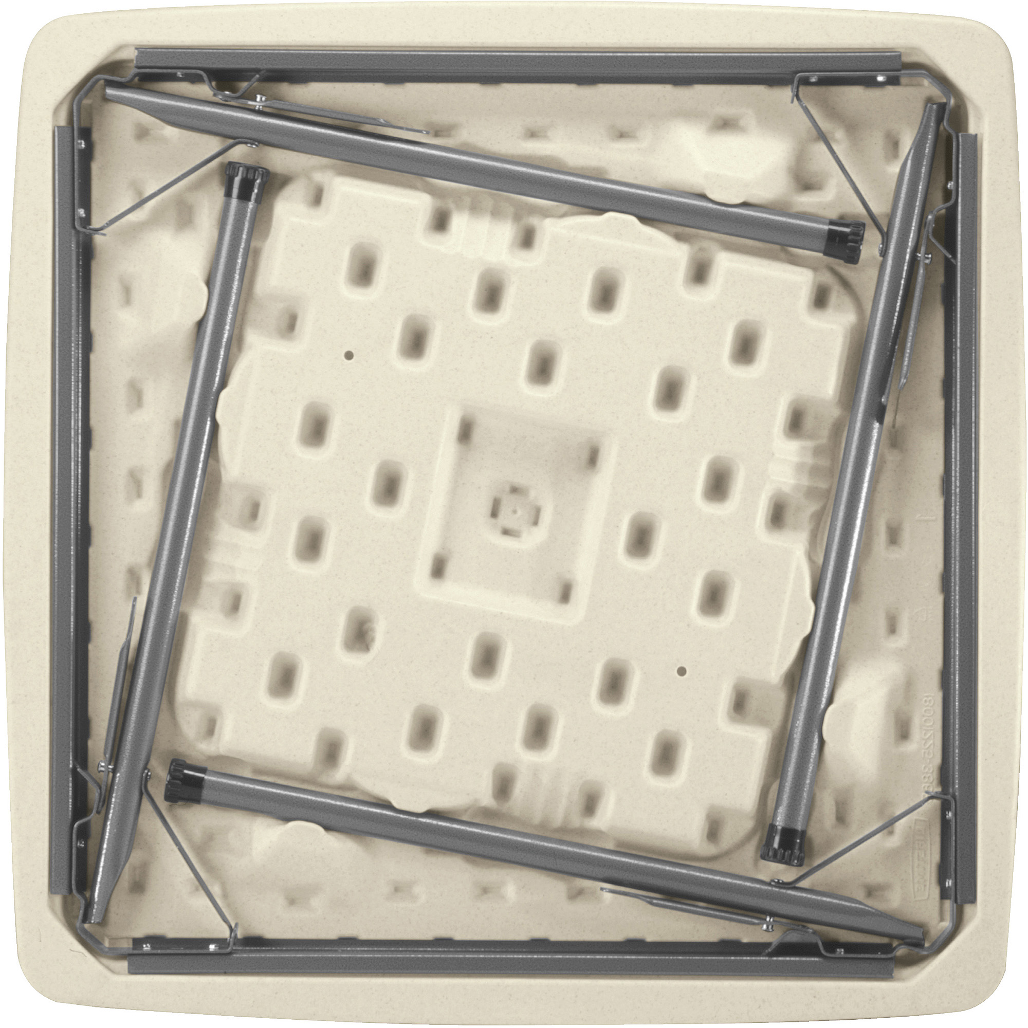 Lifetime 37 folding square table almond walmart watchthetrailerfo