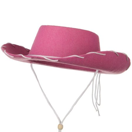 Child Western Jessie Style Cowboy Ranch Hat Pink Cowgirl Toy Story Woody Costume