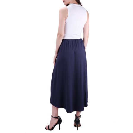 103622ff28a HDE Womens High Low Skirt Wrap Style Midi Maxi Hi Low Open Casual Jersey  Skirt ...
