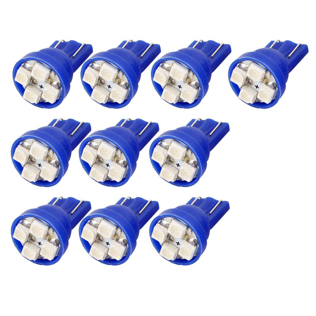 Unique Bargains Blue T10 194 192 W5W 1210 SMD 4 LEDs Bulbs Interior Side Wedge Light 10PCS