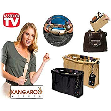Keeper Brite Pocketbook and Purse Inner Bag Organizer Sets by OraCorp - (Black)