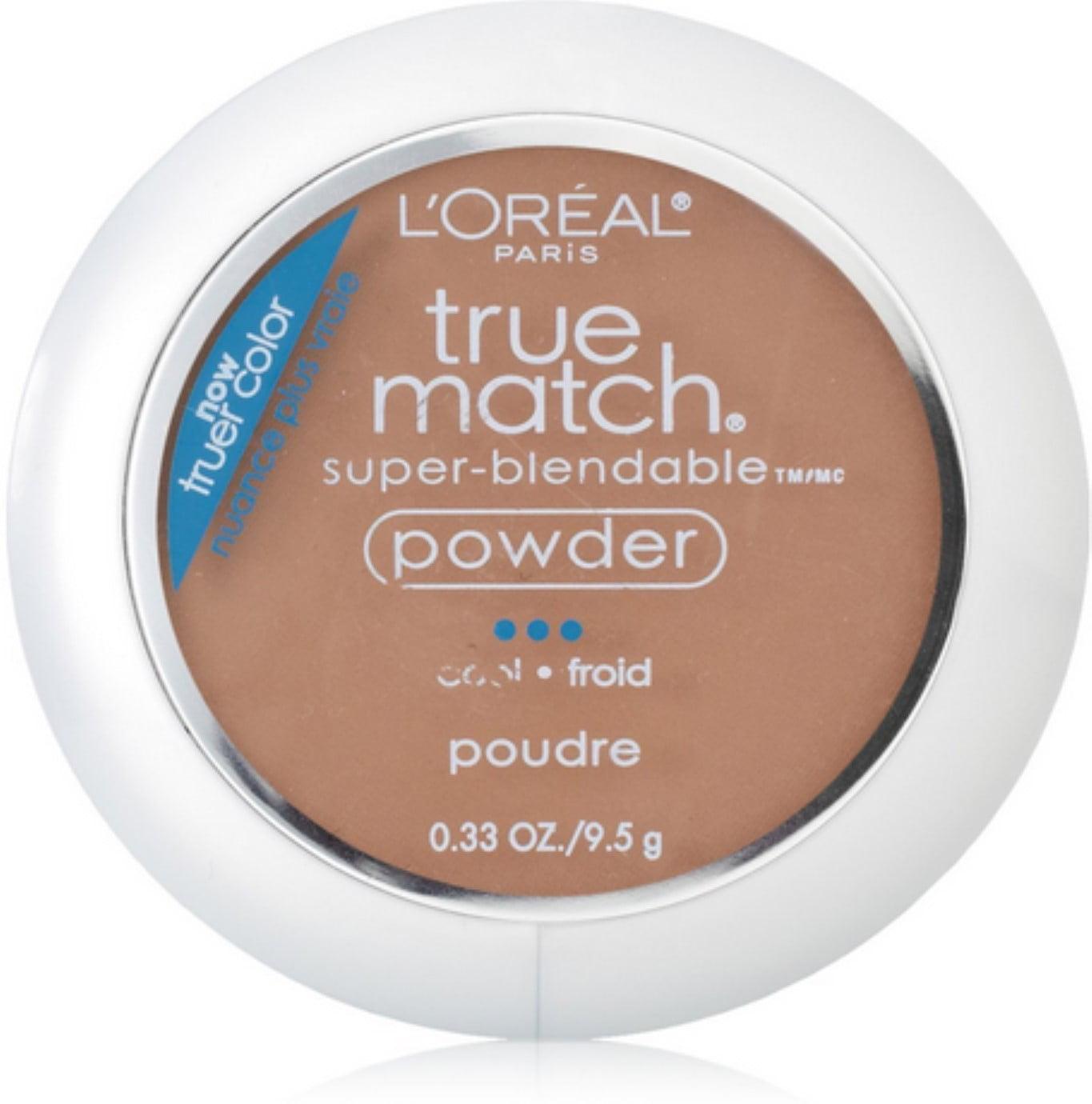 L'Oreal True Match Powder, Soft Sable [C6], 0.33 oz (Pack of 4)