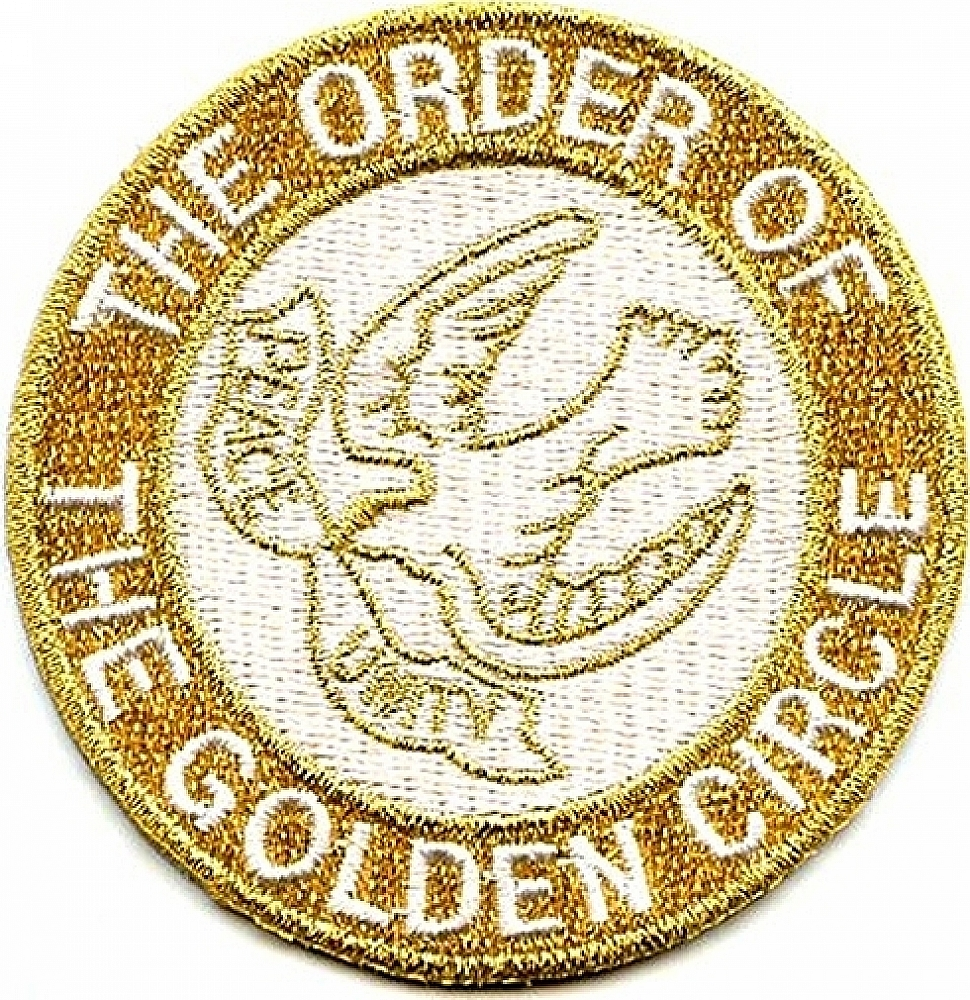 """Order of the Golden Circle Symbol Round Iron-On Patch [Gold - 1.5""""]"""
