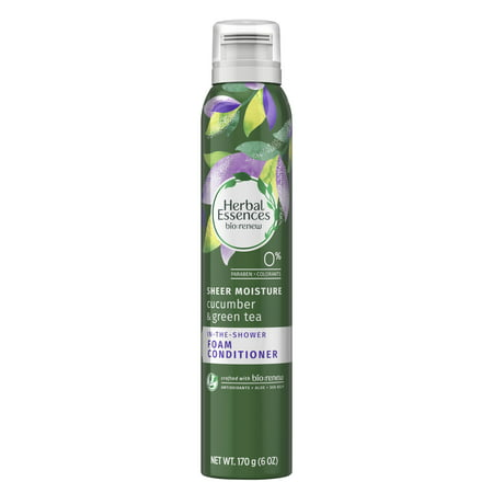Herbal Essences Bio: Renew, Cucumber & Green Tea, In-The-Shower Foam Conditioner, 6 oz