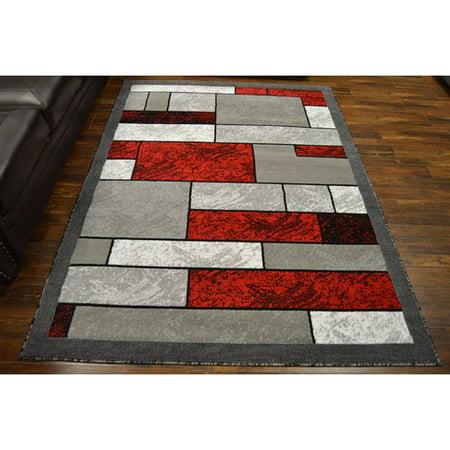 ebern designs cottone red gray area rug. Black Bedroom Furniture Sets. Home Design Ideas