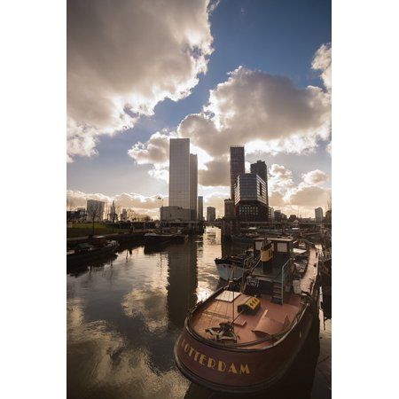 Laminated Poster Business Rotterdam Sky Ship City Port Reflection Poster Print 24 X 36