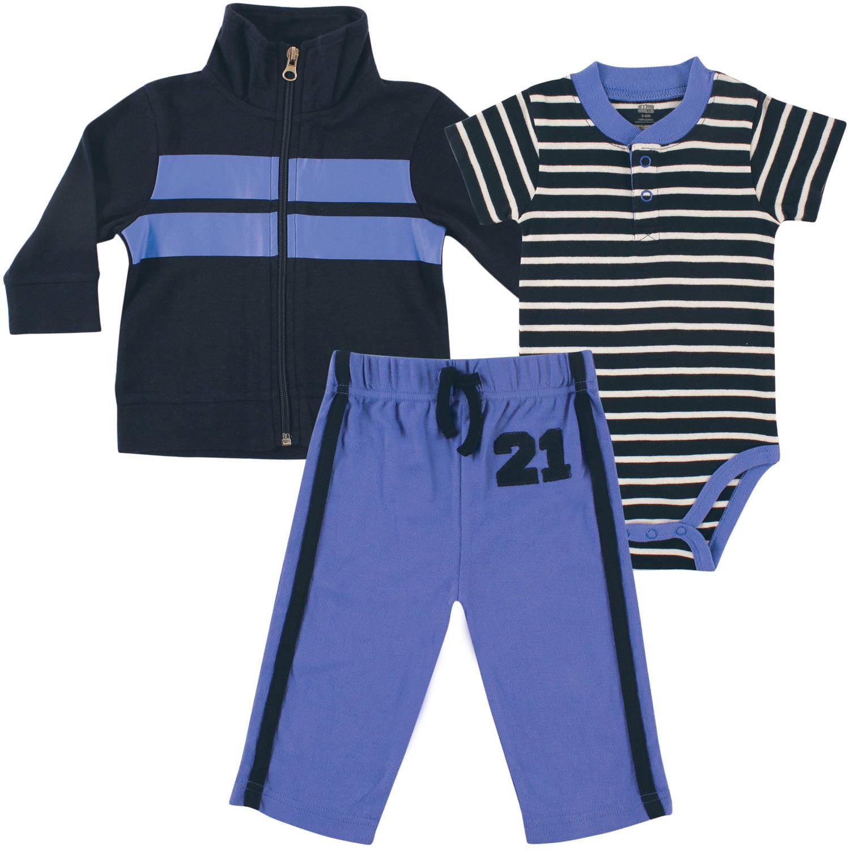 Hudson Baby Newborn Baby Boys Jacket, Bodysuit & Pant - Twenty One