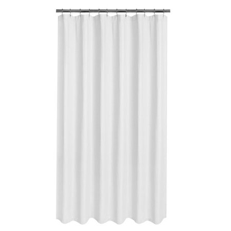 Extra Wide Water Repellent Fabric Shower Curtain Liner