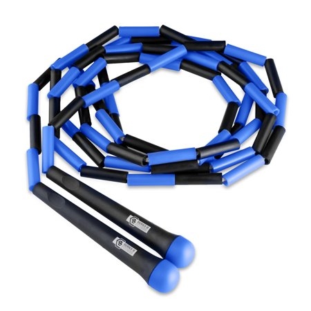 Pure Fitness 9 FT Beaded Jump Rope (Blue)](Adult Jump Rope)