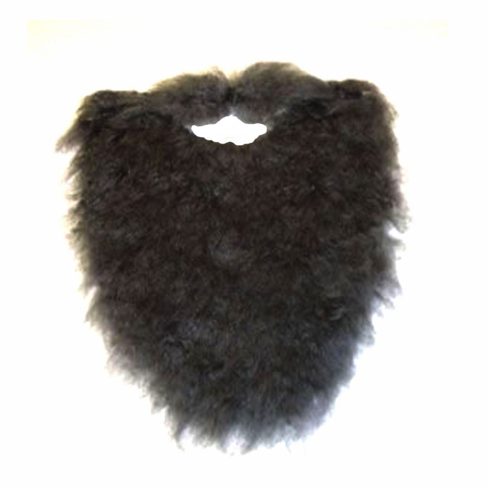 "Fake Beard and Mustache Halloween Costume Accessory-Black-8"", Black Plush Beard By Jacobson Hat Company"