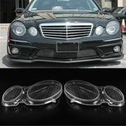 Headlight Lens Headlamp Cover For Mercedes Benz E Class W211 E240 E200 E350 E280 E300, Left/Right/Left+Right