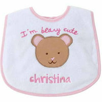 Personalized Sandra Magsamen I'm Berry Cute Girl's Bib